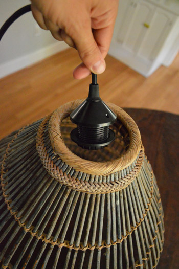 & How To Turn A Basket Into A Pendant Light | Young House Love