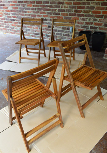 We Also Mentioned In Our Mood Board Post That We Bought A Set Of These  Affordable Wooden Outdoor Chairs From Joss U0026 Main For Around $40 Each With  Free ... Part 70