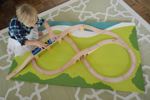How To Make A Train Board | Young House Love