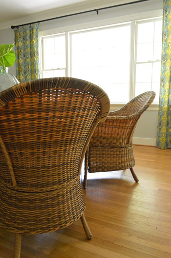 Perfect Some Rustic Woven Chairs For The Dining Room