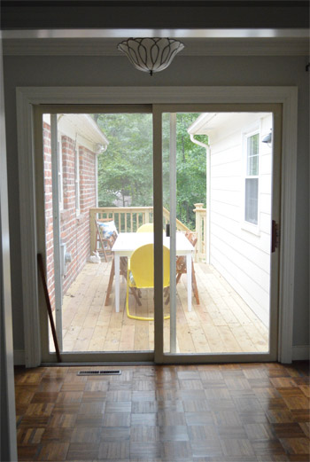 How about a bunch of photos of our new french door for New french doors