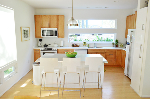 White Kitchen Appliances With Wood Cabinets house crashing: sisterly digs | young house love