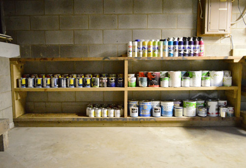 Paint Storage Pegboards In Our Basement Work