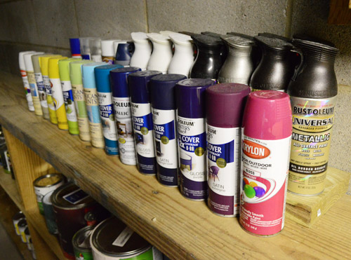 Paint Storage Pegboards In Our Basement Workshop Young House Love