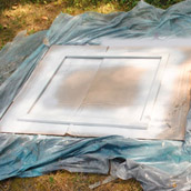 Spray Painting Frames