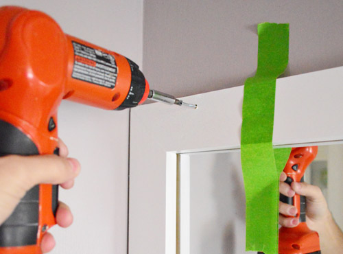Bathroom Mirror No Screws how to build a wood frame around a bathroom mirror | young house love