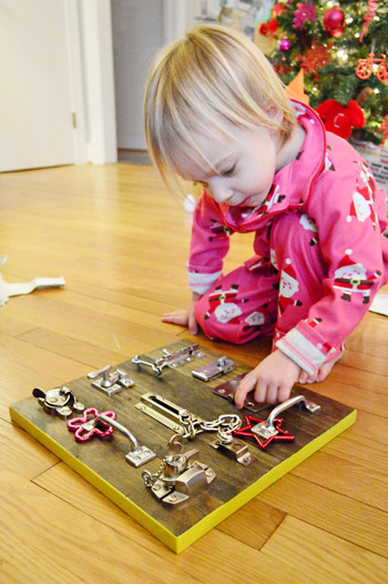 Last Minute Homemade Present: A DIY Latch Board For Kids | Young ...