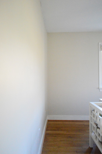 The slow journey from junk room to playroom young house love - Eggshell paint in bathroom ...