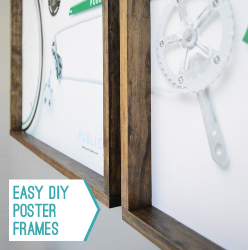 making easy wood frames for large art or posters