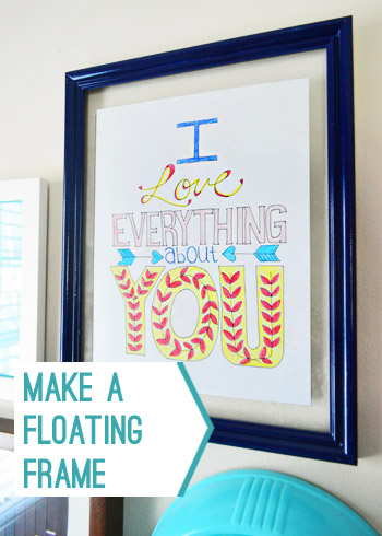How To Make A Fast Easy Floating Frame Young House Love