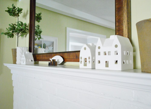 one little two little three little updates - Ceramic Christmas Houses