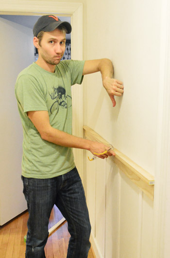 thumbs down to adding a top rail to DIY board and batten trim molding