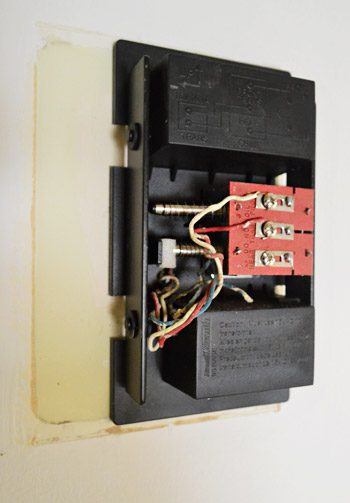replacing an ugly doorbell young house love all of the wires reconnected in the same way that they were configured for the old doorbell i added the cover and marveled at what a small but helpful