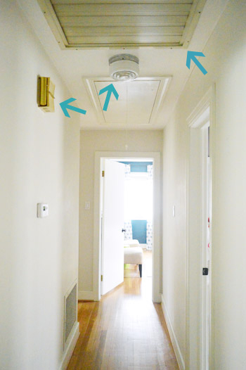 Replacing an ugly doorbell young house love for Ceiling lights for small hallway