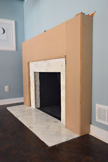 Our Fireplace Makeover: Building A New Mantel | Young House Love