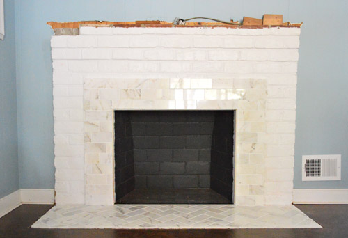 Fireplace Tile Surrounds And Mantels Roselawnlutheran - Brick fireplace tile ideas