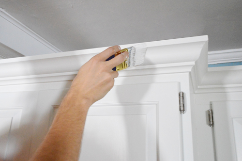 How To Add Crown Molding To The Top Of Your Cabinets | Young House Love