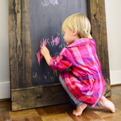 Creating A Rustic Chalkboard