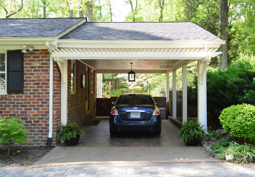 Building a garage or carport pergola young house love for House with carport