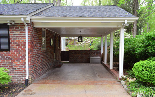 Planning and prepping a carport pergola young house love for House plans with carport in back