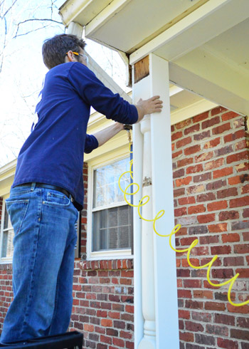 removing scalloped porch trim fixing the columns young house love