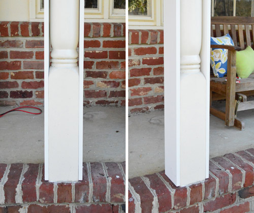 Ready Made Pillars : Removing scalloped porch trim fixing the columns young
