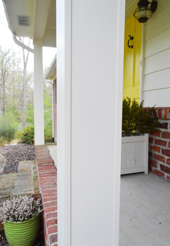 Columns In House how we boxed out our old curvy porch columns | young house love