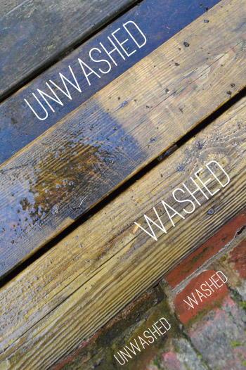 Using A Power Washer To Clean Wood Brick And Cement