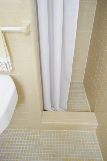 Shower Stall With Curtain Instead Of Door Cheap U0026 Charming: Our $51 . ...