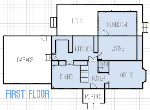 drawing up floor plans dreaming about changes young house love
