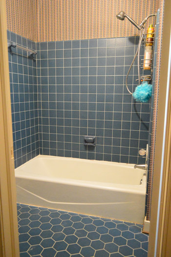 Wonderful Kitchen Bath And Beyond Tampa Small Heated Tile Floor Bathroom Cost Shaped Fiberglass Bathtub Bottom Crack Repair Inlays Retro Pink Tile Bathroom Ideas Young Can You Have A Spa Bath When Your Pregnant PinkLowe S Canada Bathroom Cabinets How To Remove An Old Sliding Shower Door | Young House Love