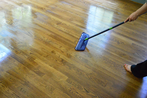 How To Clean Gloss Up And Seal Dull Old Hardwood Floors Young