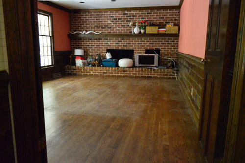 ... Instead Of Using It To Spread The Bona Stuff, I Worked My Way Out Of  The Room With The Rejuvenate Wood Floor Restorer. The Room Looked Like This  Before: