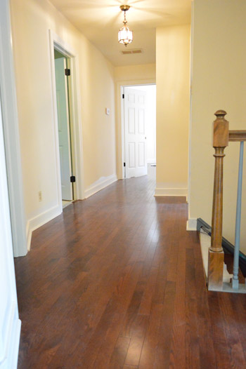 How to install oak hardwood floors young house love for Family floors