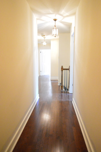 How to install oak hardwood floors young house love for Hardwood floors upstairs