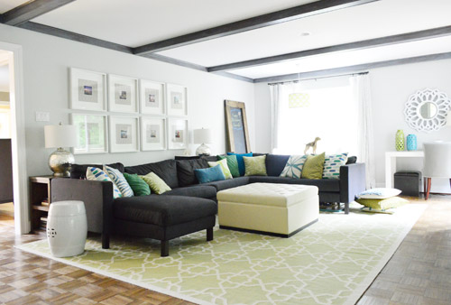 Gentil Trim: Olympic No VOC Off The Shelf White Paint In Semi Gloss. Beams: Shaker  Gray 1594 By Benjamin Moore, Color Matched To Olympic No VOC Paint In Satin  ...