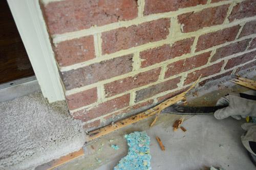 carpet tack strip. ripping up a rug \u0026 removing the pad tack strips carpet strip s