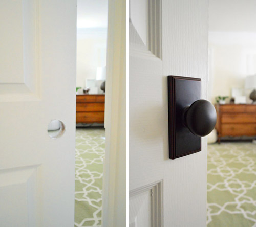 updating interior doors by installing new doorknobs - Interior Doors