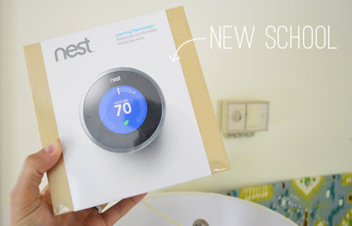 how to install a nest learning thermostat young house love. Black Bedroom Furniture Sets. Home Design Ideas