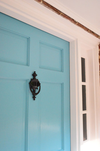 Painting the back of your front door a bold color young Best color for front door to sell house