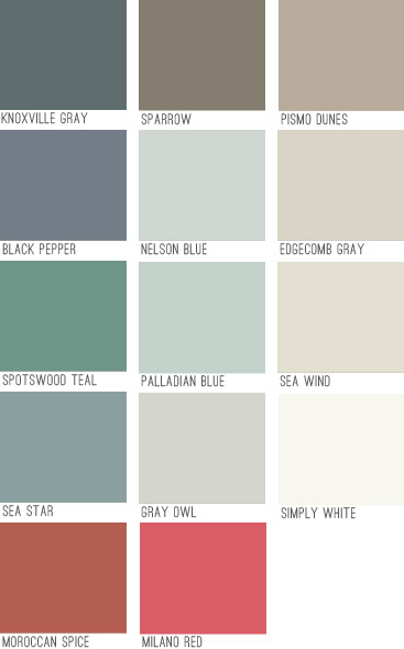 New House Paint Colors