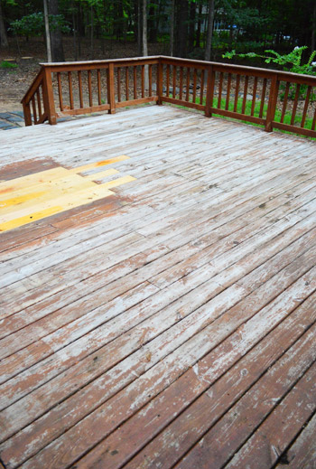 how to clean wood deck before staining