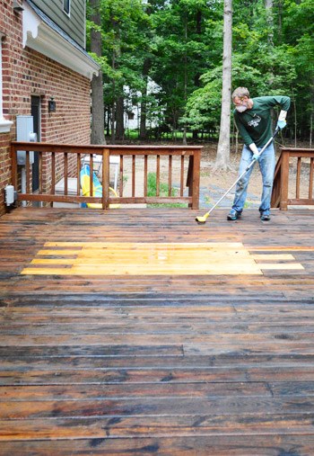 What necessary deck paint strip