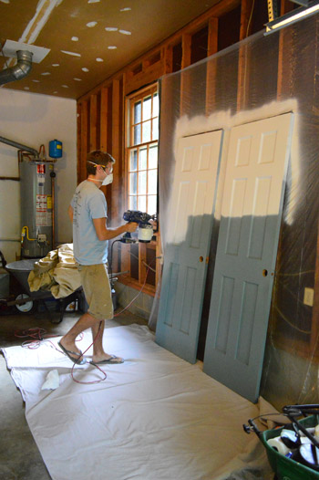 Priming And Painting Trim With A Paint Sprayer And By Hand