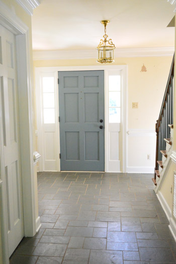 Foyer Door Color : Painting the back of your front door a bold color young