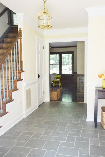 Young House Love Foyer Door : Priming and painting trim with a paint sprayer by hand