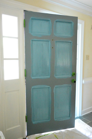 Painting The Back Of Your Front Door A Bold Color Young