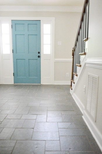 Foyer Door Color : Foyer freshness a soft neutral paint color young house love
