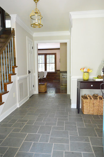 Gray Foyer Colors : Foyer freshness a soft neutral paint color young house love