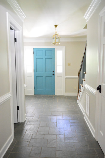 Foyer Color Ideas foyer freshness: a soft neutral paint color | young house love